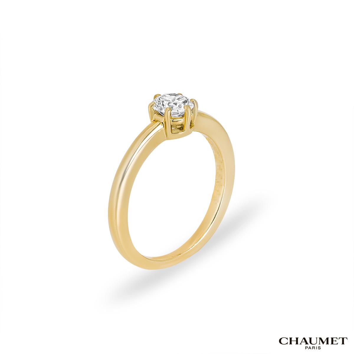 Chaumet Round Brilliant Cut Diamond Ring
